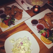 Fried Chicken & Island Coleslaw