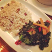 Rice & Peas and Collard Greens at Harlem Underground