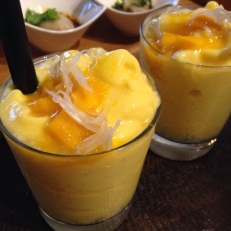 Fresh Mango Coconut Smoothie with Sago and Aloe Jelly