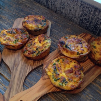 Mini house-made quiches with fresh made pastry